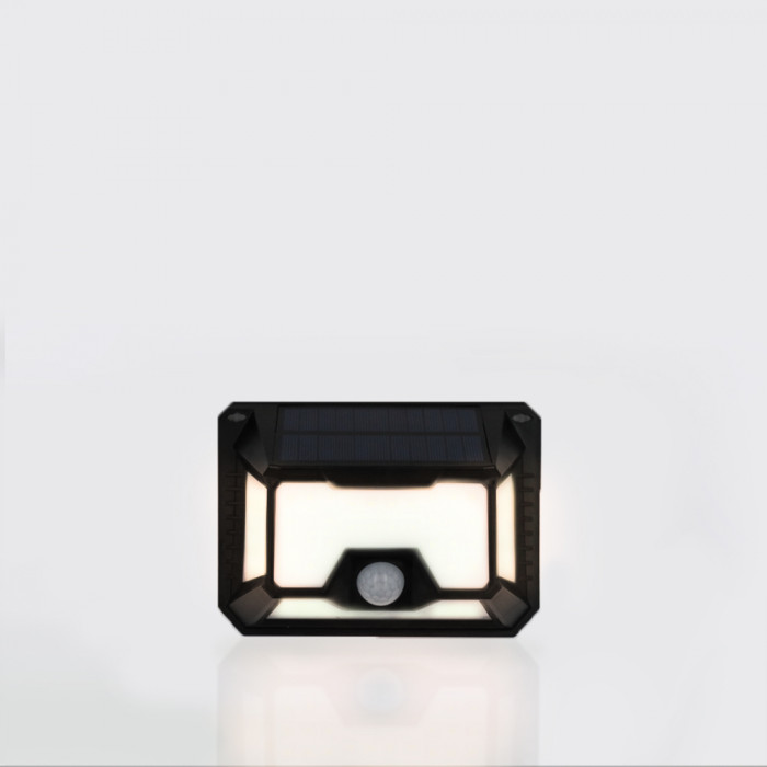 Nightlight ดำ RIN Solar สี่เหลี่ยม 66 LED Warm White