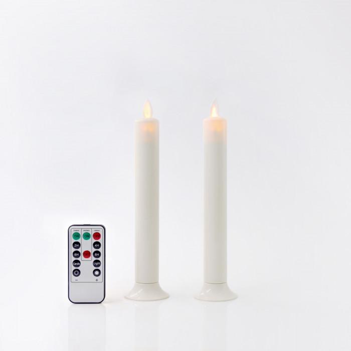 เชิงเทียน LED 20 CM ขาวฐานขาว วิ้ง รีโมท CLA PLS