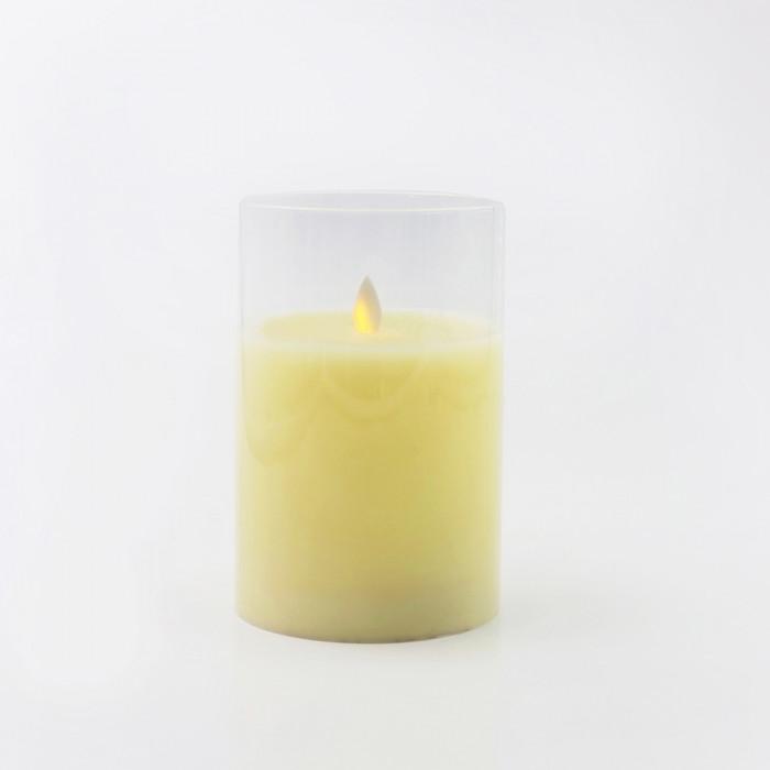 เทียน LED 6INCH ขาว ครอบแก้ว CLAIRE WAX