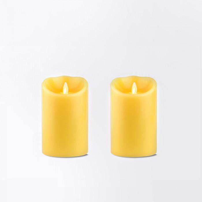 แคร์ล ชุดเทียนLED สีเหลือง 4 นิ้ว มีกลิ่นหอม กลิ่นวานิลา 2 ชิิ้น (ราคาพิเศษ)