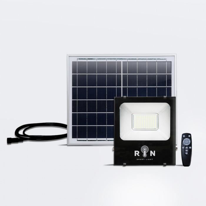 Solar Sensor Flood Light ดำ RIN สี่เหลี่ยม Rated power 100W 168LED รีโมท