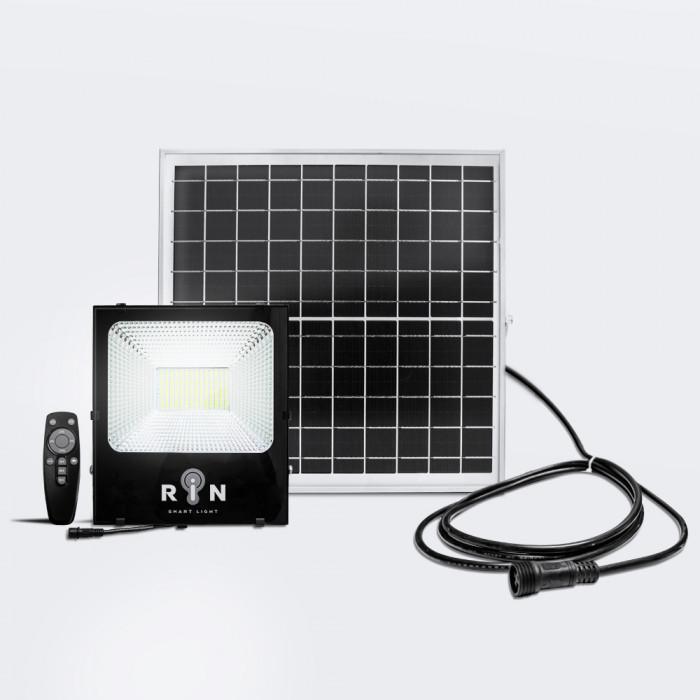 Solar Sensor Flood Light ดำ RIN สี่เหลี่ยม Rated power 150W 224LED รีโมท