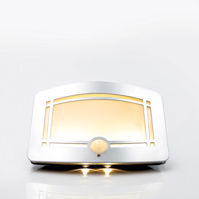 Nightlight เงิน RIN สี่เหลี่ยม 12LED Warm White