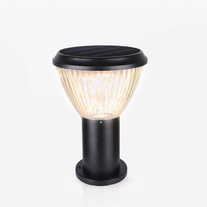 Nightlight ดำ RIN Solar โคมไฟหัวเสาทรงกลม 30 LED
